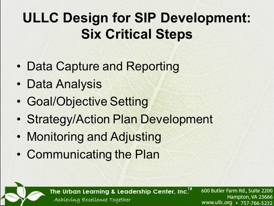ULLC Design for SIP Development: Six Critical Steps