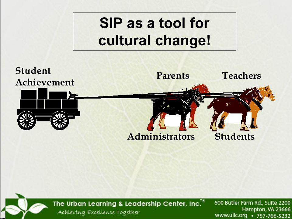 SIP as a tool for cultural change!
