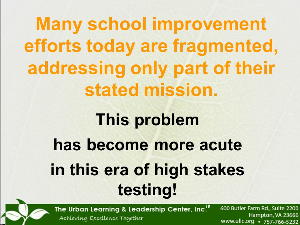 in this era of high stakes testing!