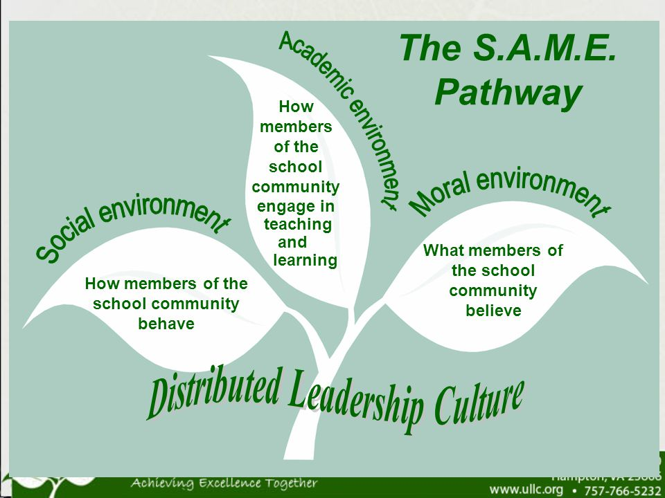 The S.A.M.E. Pathway Academic environment Moral environment