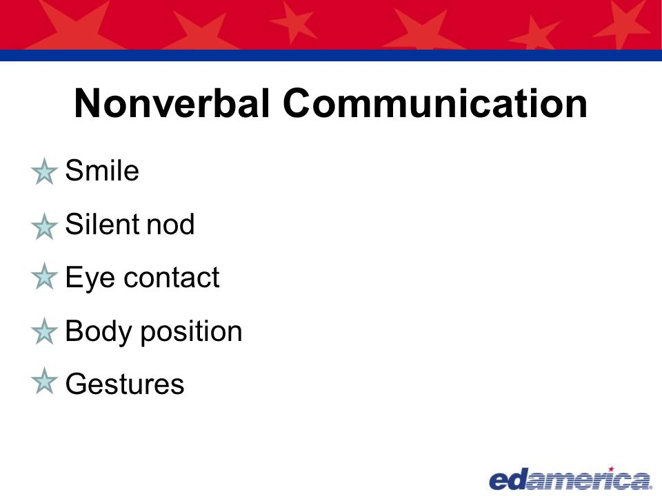 Nonverbal communication personal experience