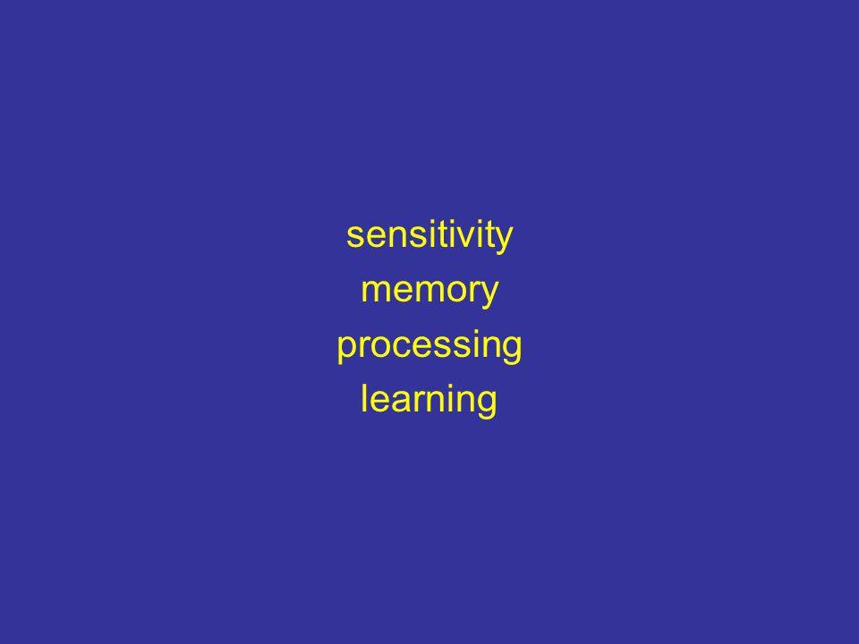 sensitivity memory processing learning