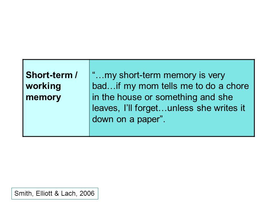 Short-term / working memory