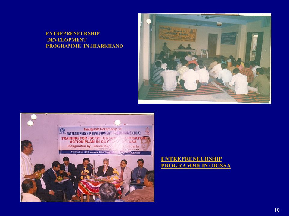 ENTREPRENEURSHIP DEVELOPMENT PROGRAMME IN JHARKHAND