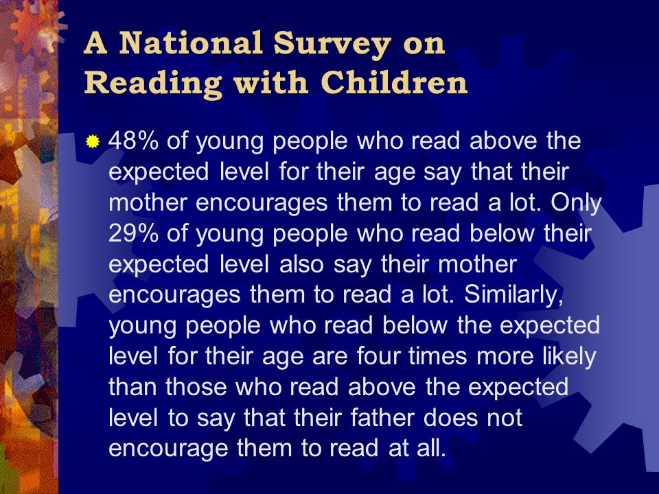 A National Survey on Reading with Children