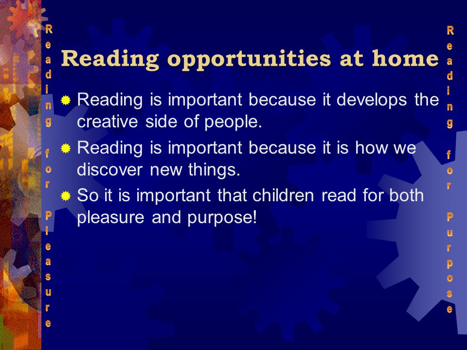 Reading opportunities at home