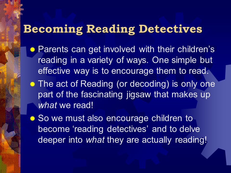 Becoming Reading Detectives