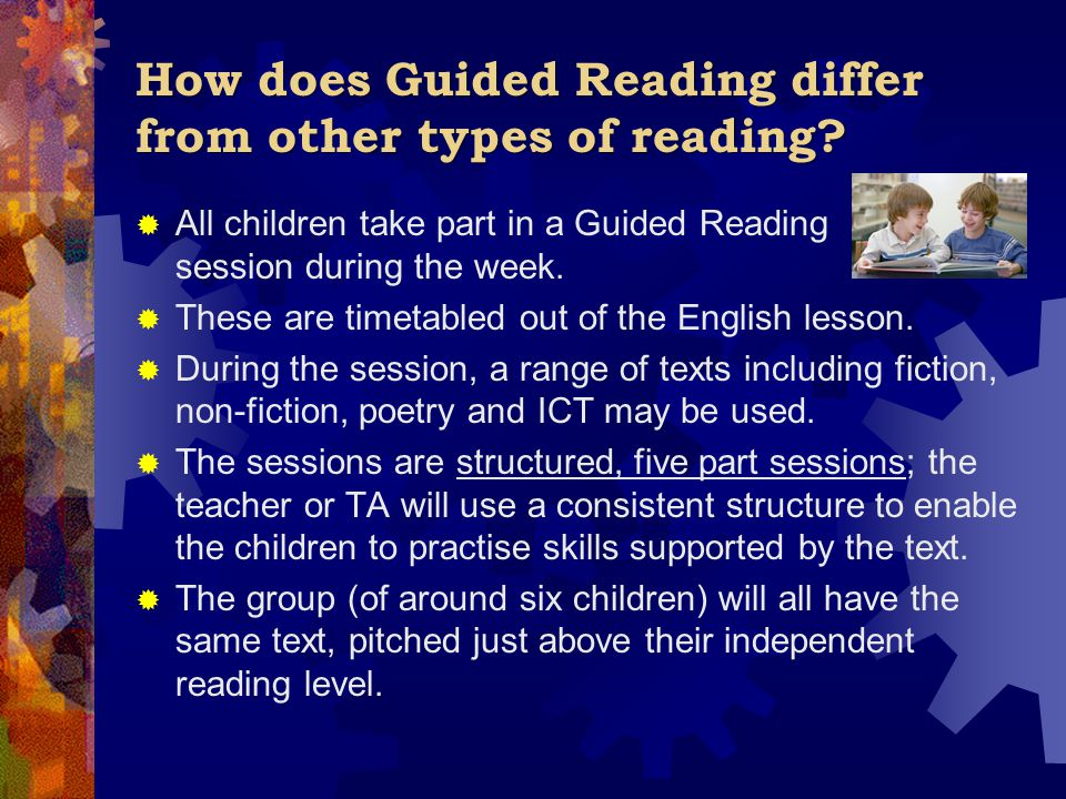 How does Guided Reading differ from other types of reading