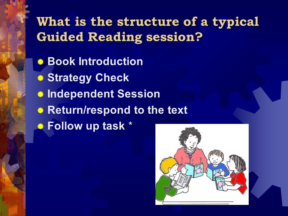 What is the structure of a typical Guided Reading session