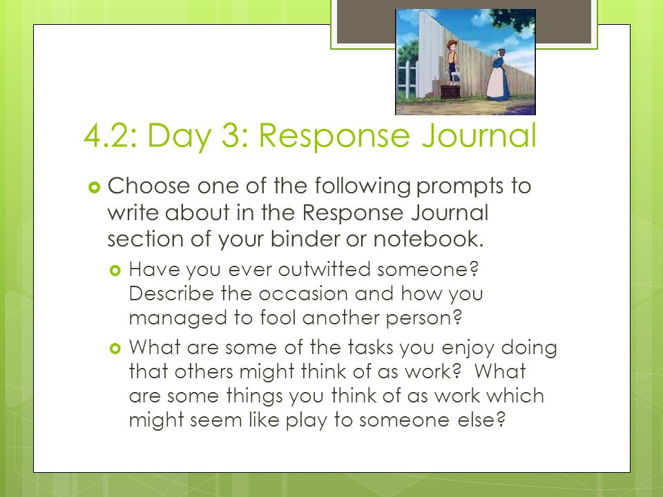 4.2: Day 3: Response Journal