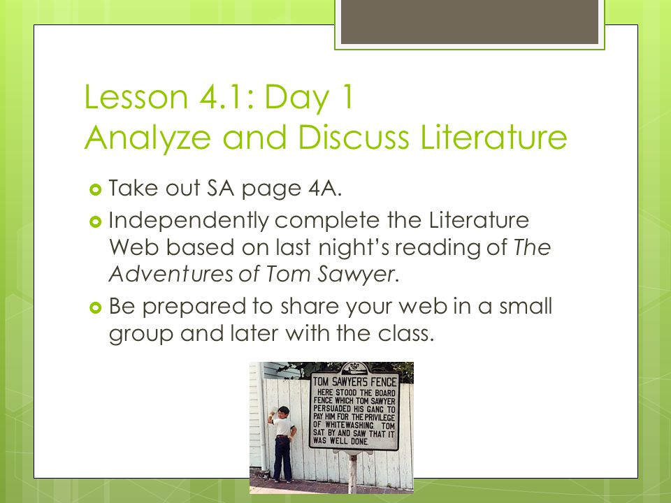 lesson the adventures of tom sawyer and the idea of persuasion   adventures of tom sawyer and the idea of persuasion 2 lesson