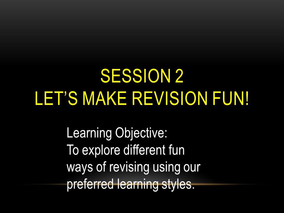 Let's make revision fun!