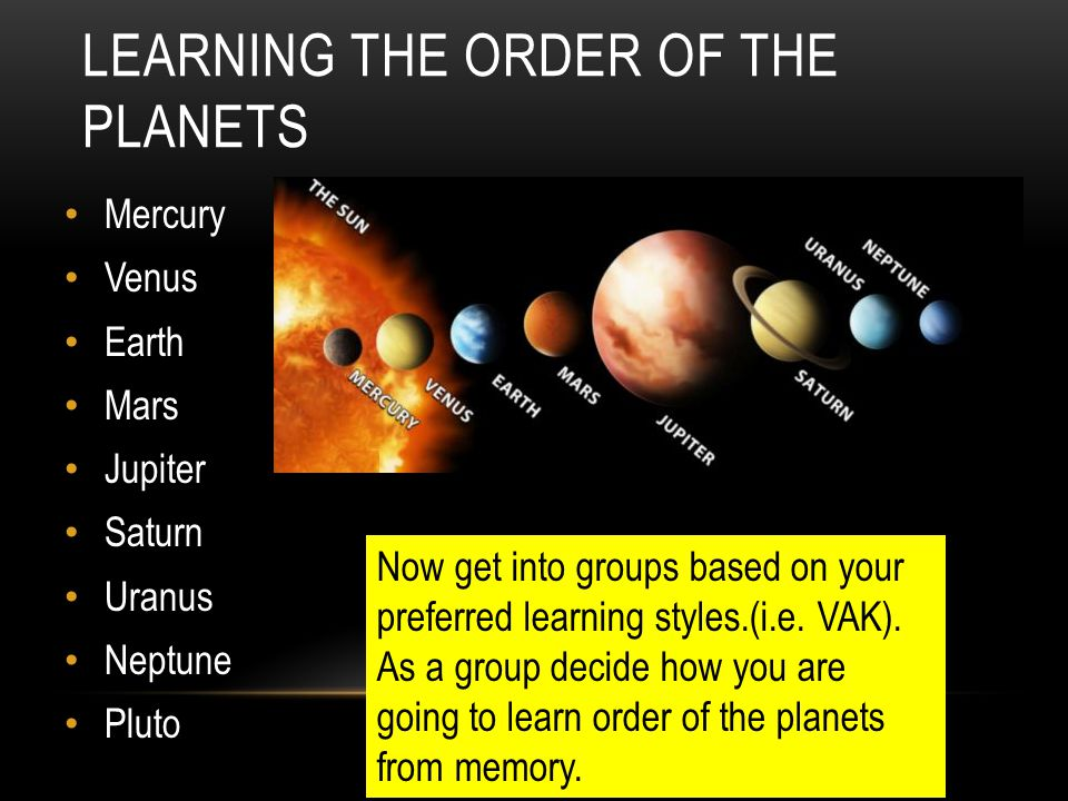 Learning the order of the planets