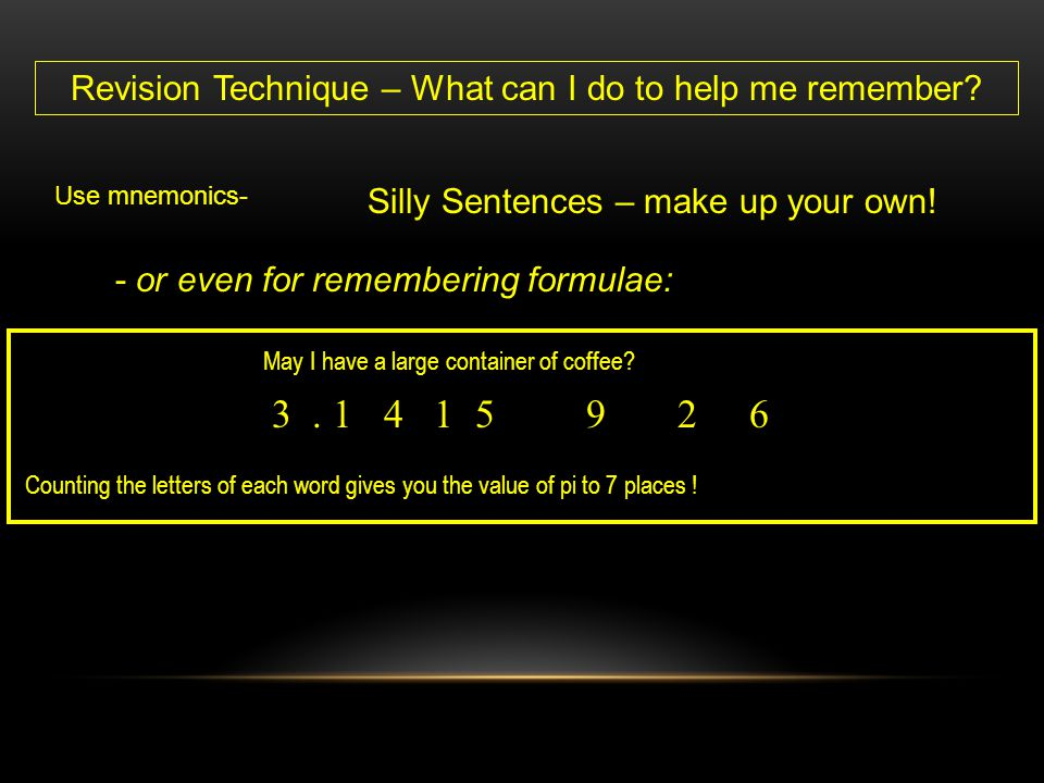 Revision Technique – What can I do to help me remember
