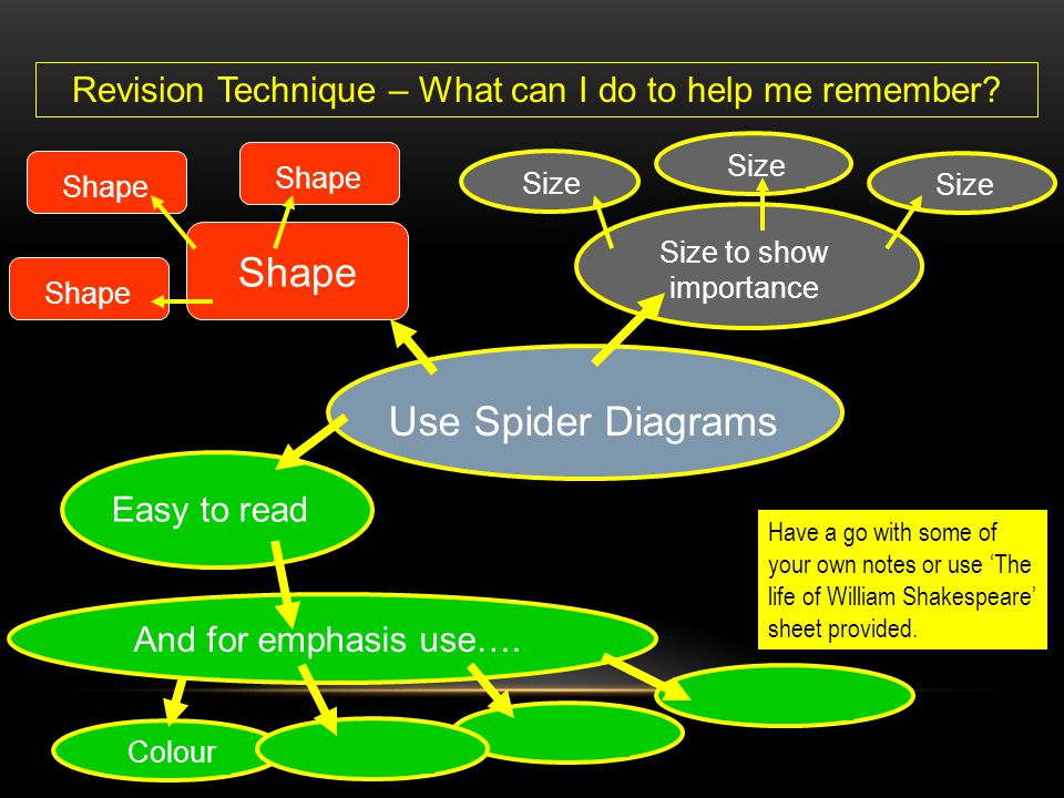 Shape Use Spider Diagrams