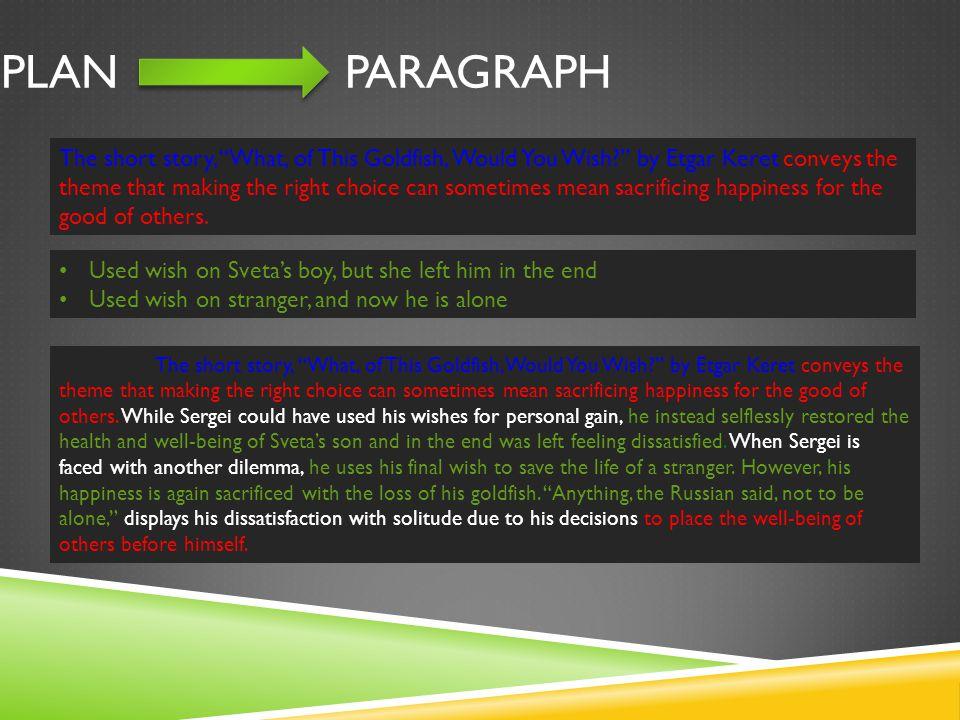 Plan Paragraph