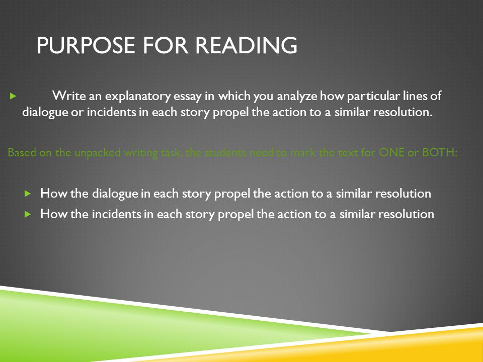 Purpose for reading