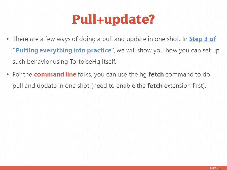 Pull+update