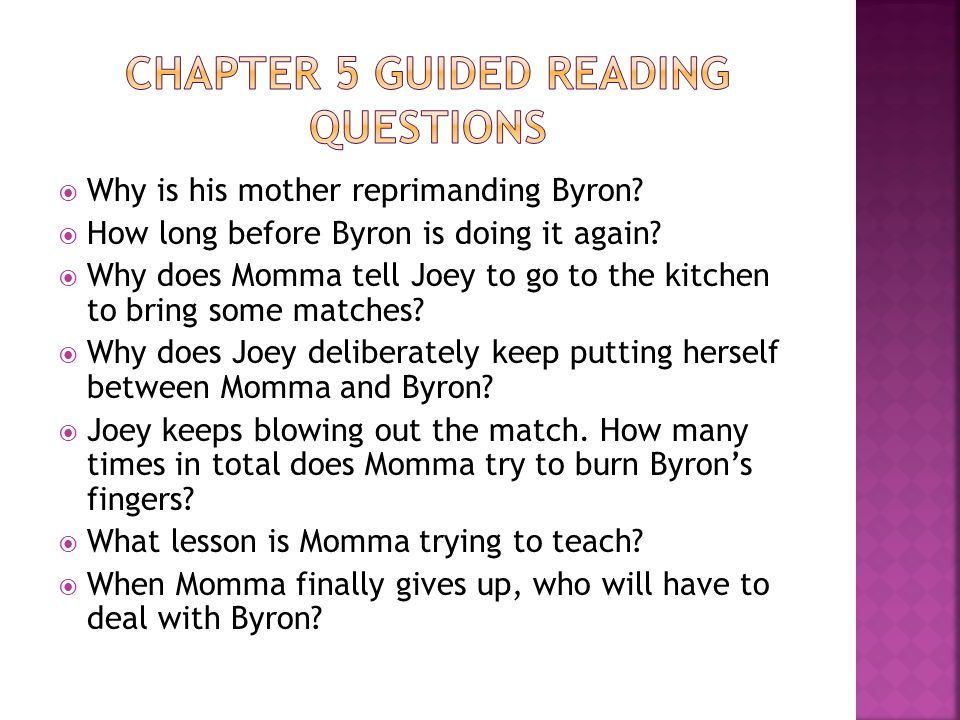 Chapter 5 Guided Reading Questions