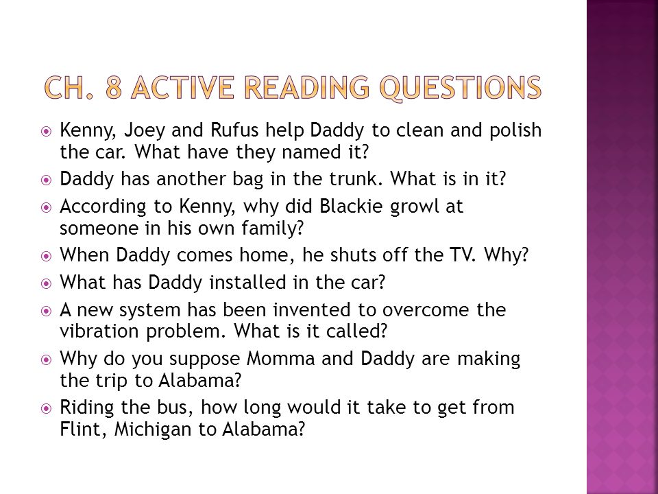 Ch. 8 Active reading questions