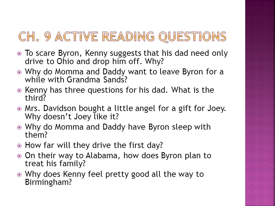 Ch. 9 Active Reading Questions