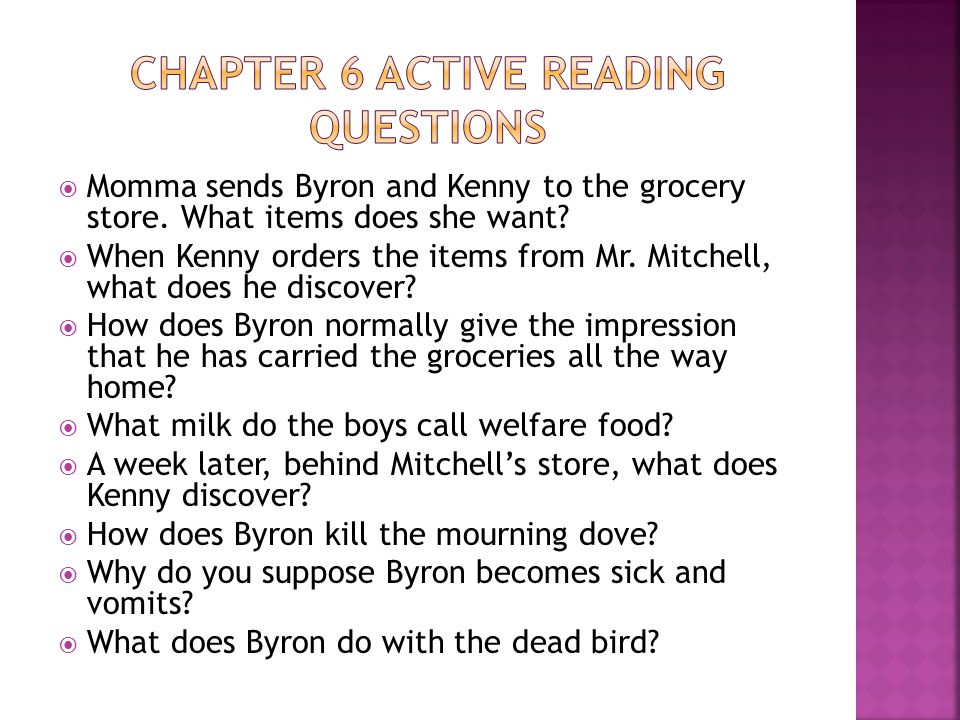 Chapter 6 Active reading questions