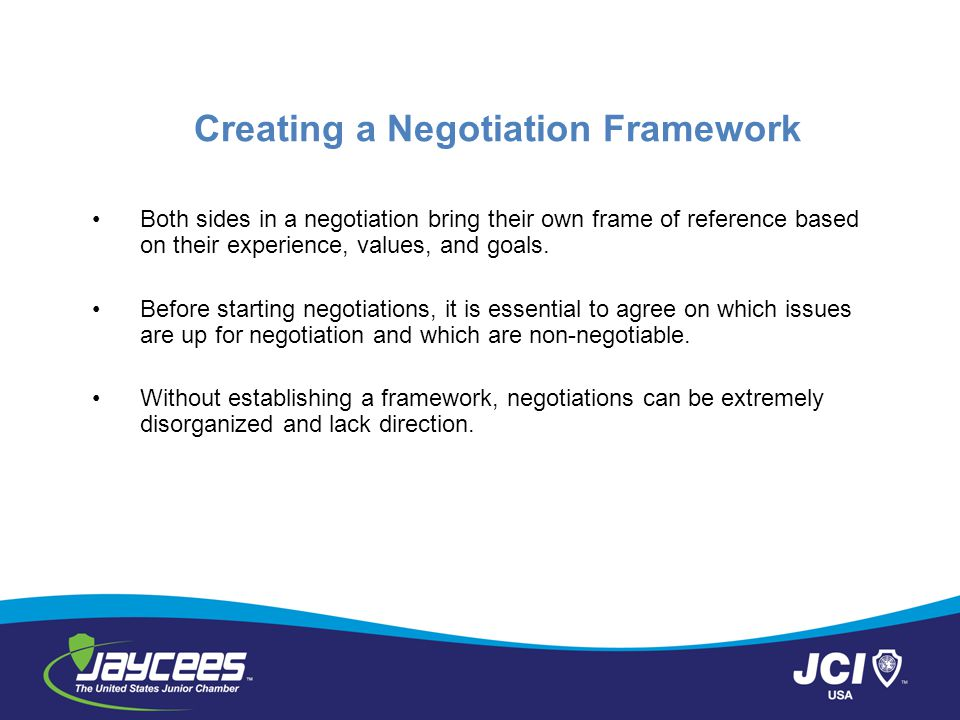 Creating a Negotiation Framework