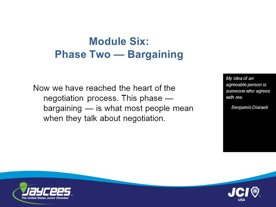 Module Six: Phase Two — Bargaining