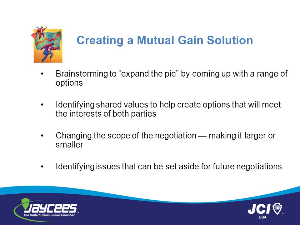 Creating a Mutual Gain Solution