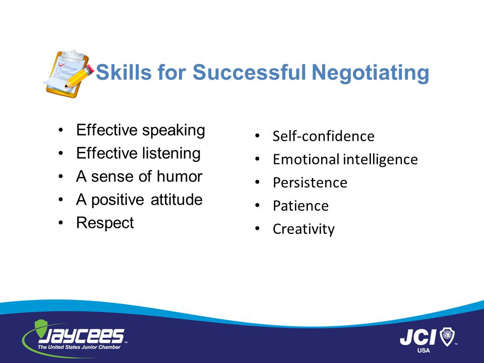 Skills for Successful Negotiating