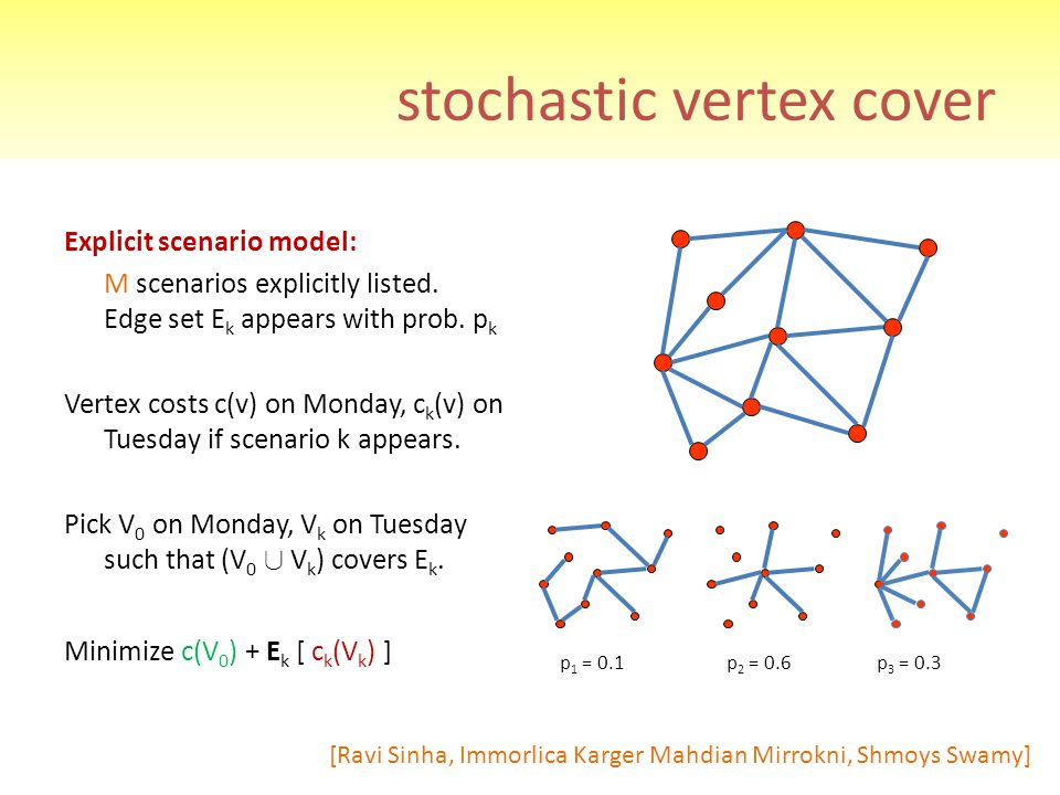 stochastic vertex cover