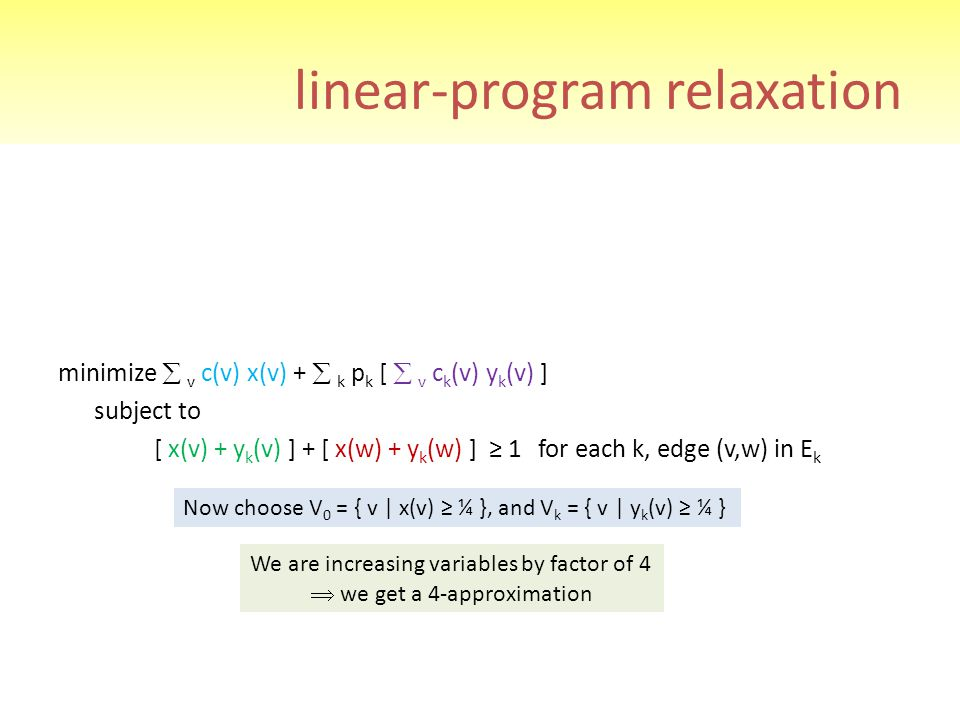 linear-program relaxation