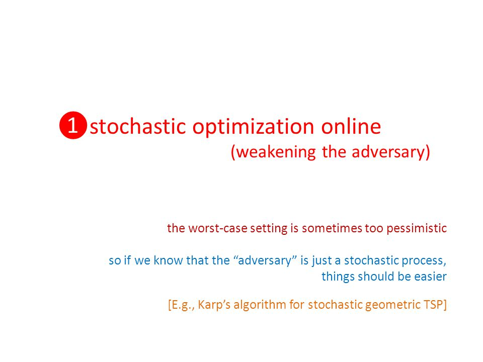 ❶stochastic optimization online