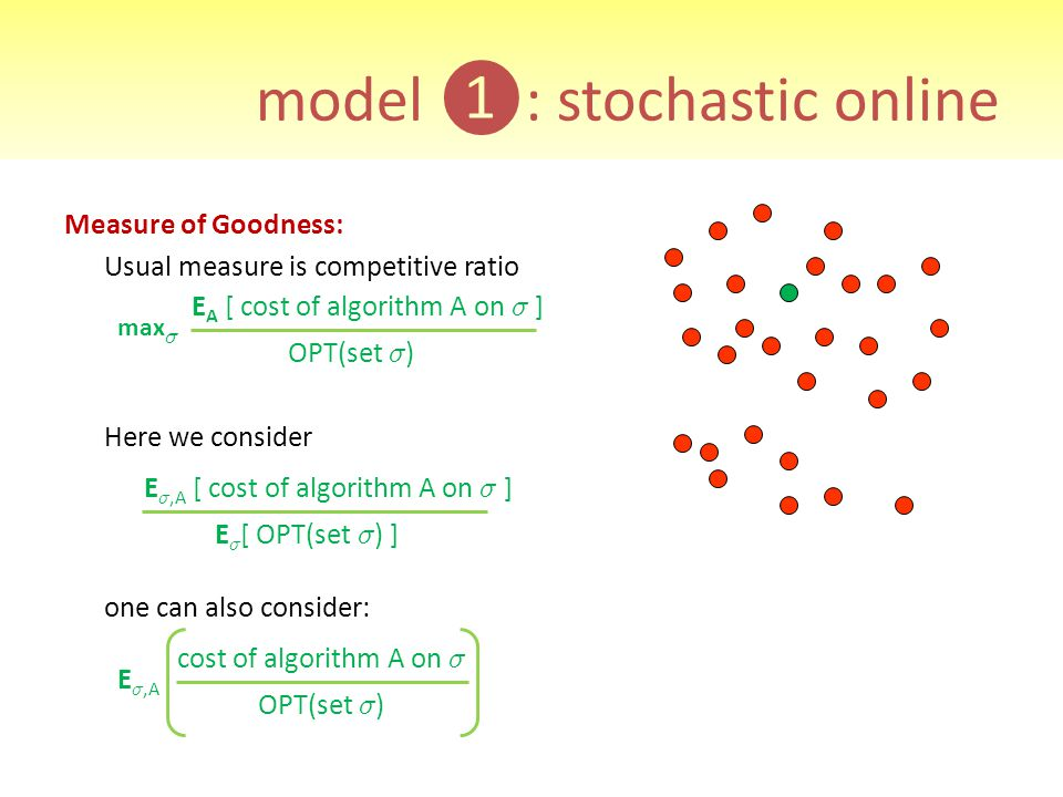 model ❶: stochastic online