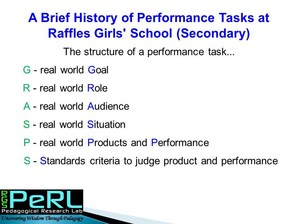 A Brief History of Performance Tasks at