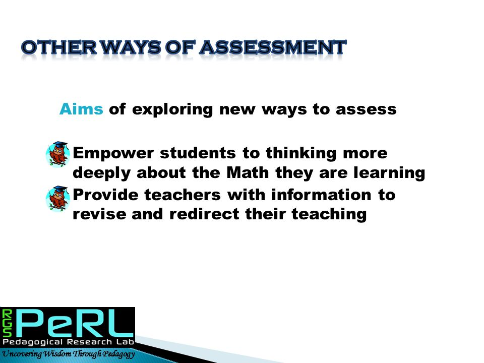 Other ways of assessment