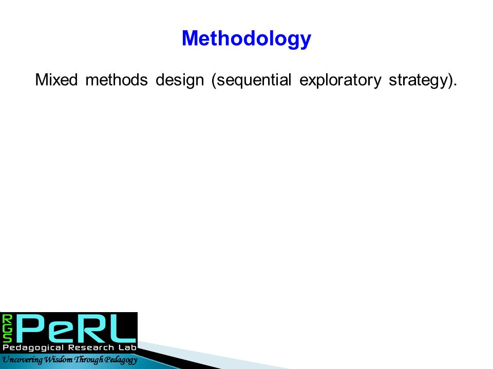 Mixed methods design (sequential exploratory strategy).
