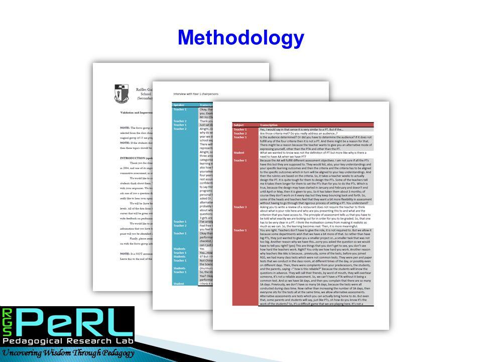 Methodology Uncovering Wisdom Through Pedagogy