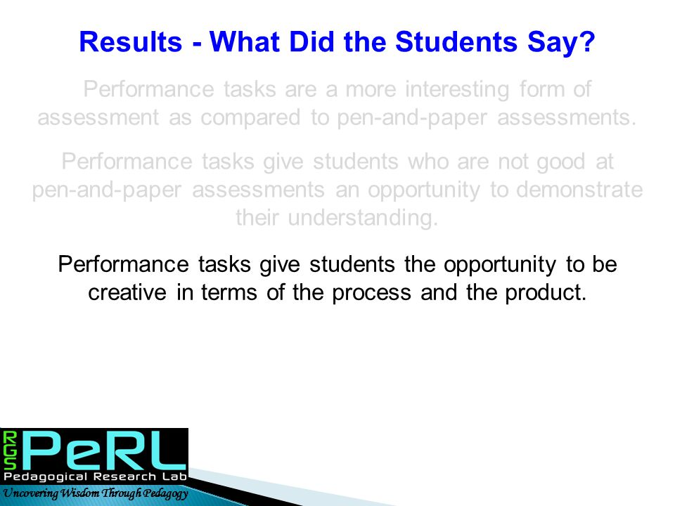 Results - What Did the Students Say