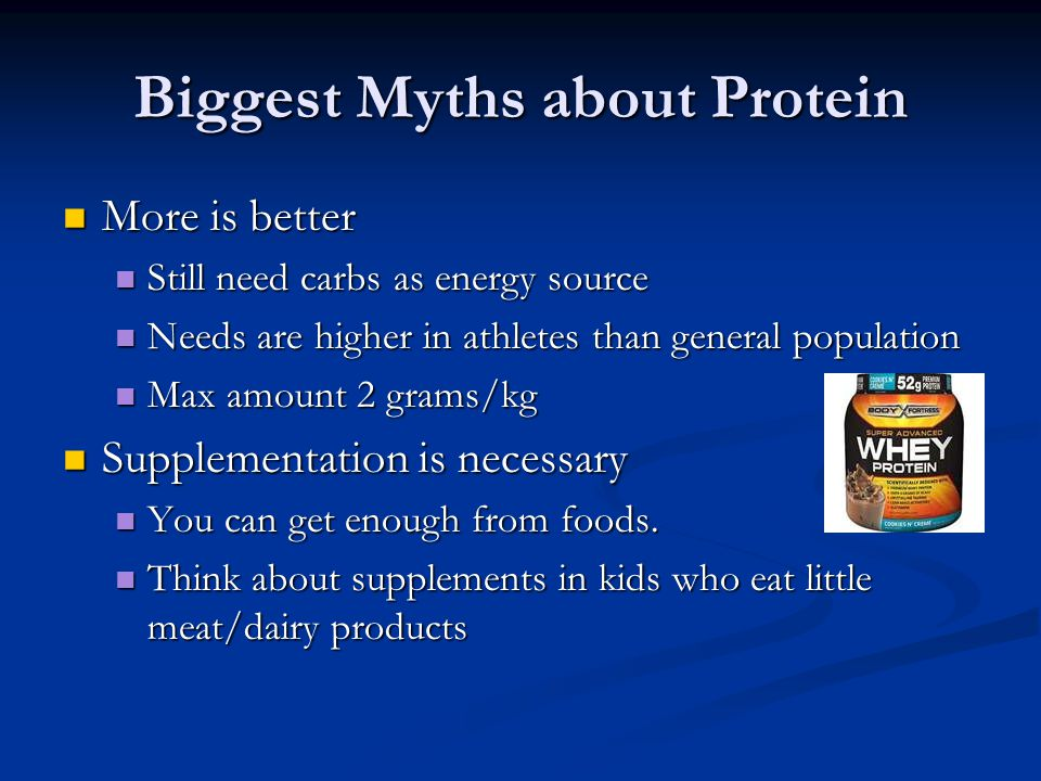 Biggest Myths about Protein