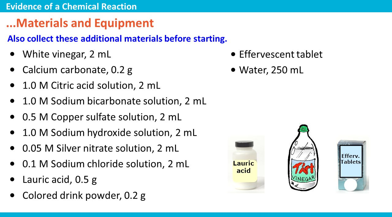 ...Materials and Equipment
