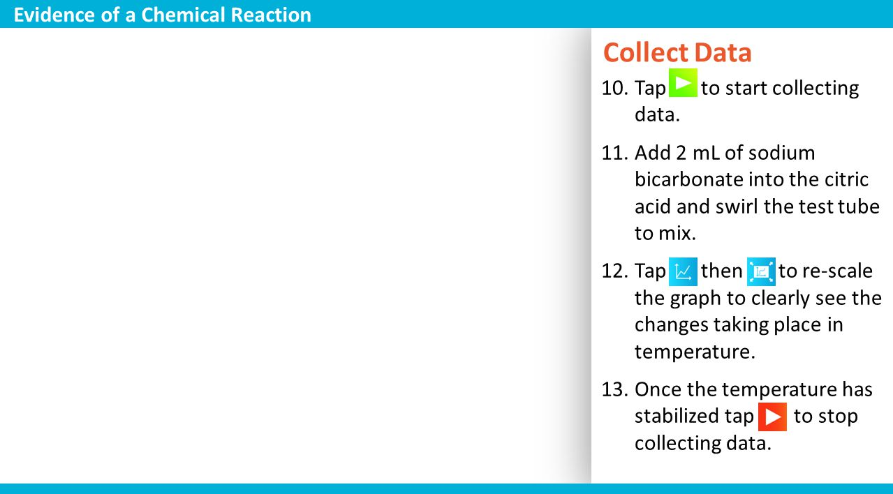 Collect Data Evidence of a Chemical Reaction
