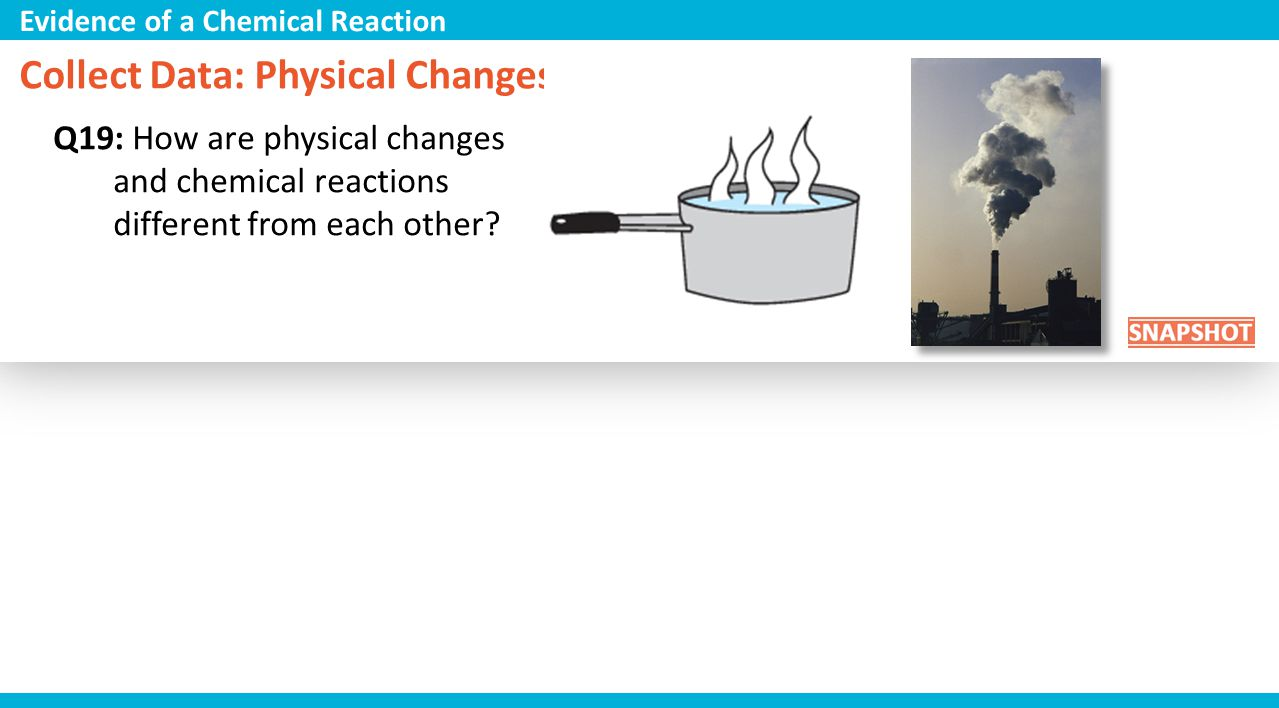 Collect Data: Physical Changes