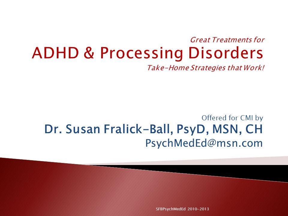 Dr. Susan Fralick-Ball, PsyD, MSN, CH