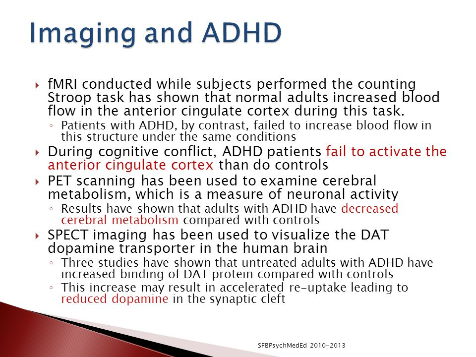 Imaging and ADHD