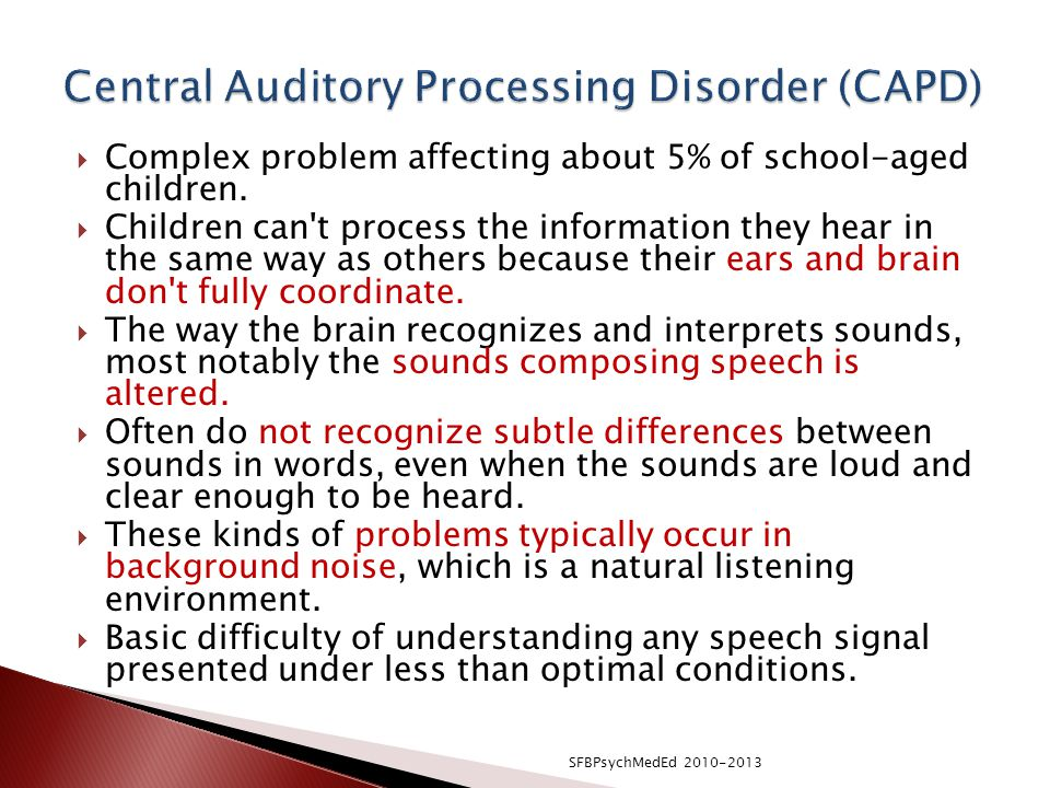 how to teach a child with auditory processing disorder