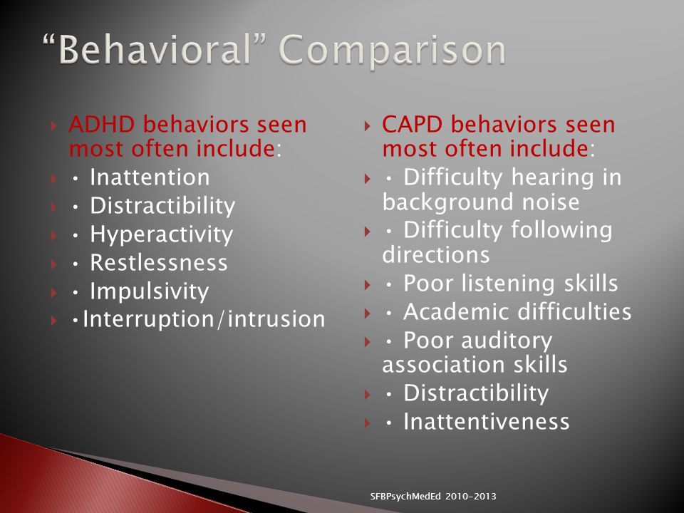 Behavioral Comparison