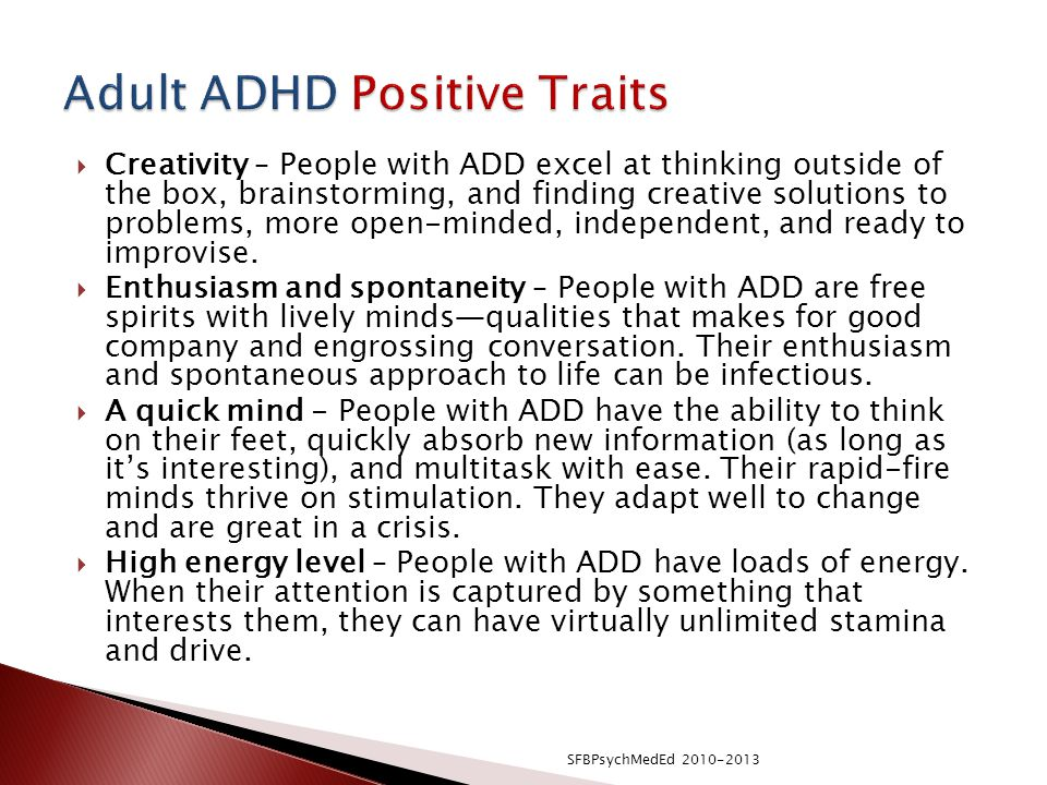 Adult ADHD Positive Traits