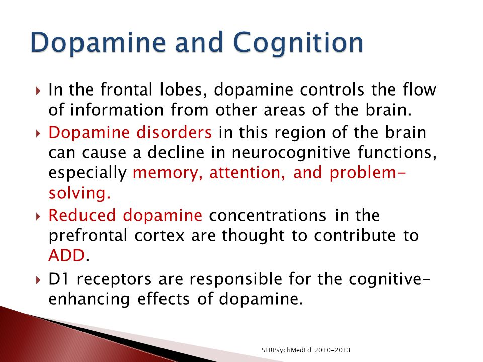 Dopamine and Cognition