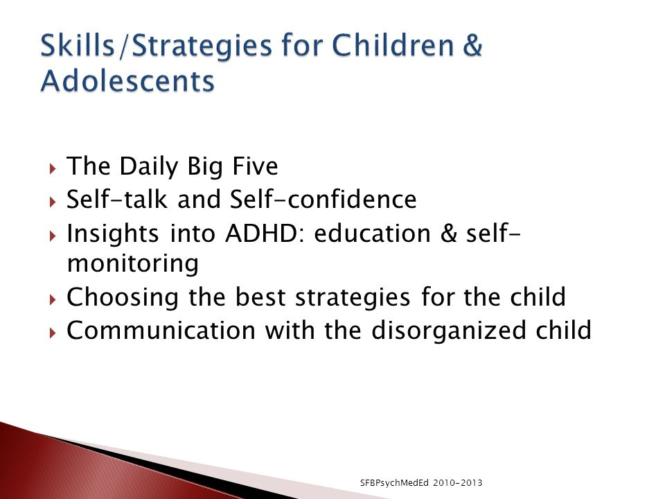 Skills/Strategies for Children & Adolescents